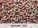 Matubo 8/0, Crystal Magic Red Brown. 10 gram.