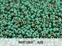 Matubo 8/0, Green Turqoise Dark Travertin. 10 gram.