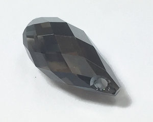 Swarovski 6010 Briolette, Crystal Silvernight. 13*6,5 mm.