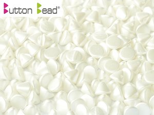 Button Bead, Pastel White, 25001. 30-pack.