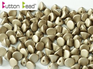 Button Bead, Metallic Mat, 29416. 30-pack.