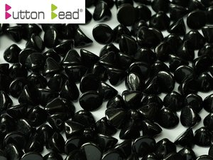 Button Bead, Jet, 23980. 30-pack.