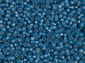 Miyuki seedbead 11/0, Dyed Denim Blue Silverlined Alabaster, 648. 5 gram