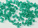Machine cut bikon från Preciosa, 3 mm. Emerald. 10-pack.