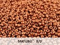 Matubo 8/0, Crystal SIlky Red Bronze. 10 gram.